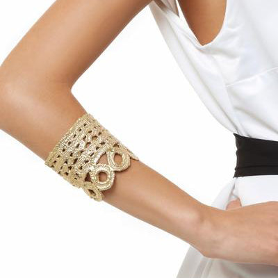 Titania cuff in gold Design by Alexandra Koumba