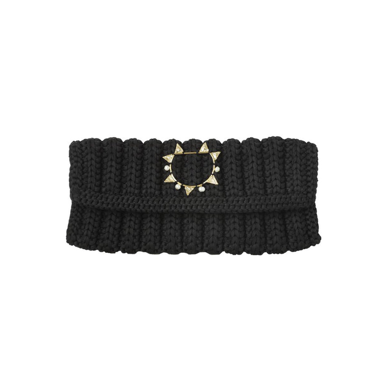 Weaved-black-clutch-with-tri-pearl-jewel-designe-by-Alexandra-koumba