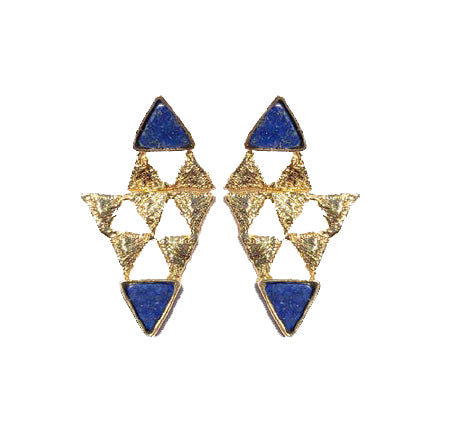 Try Pyramid Lapis Earring