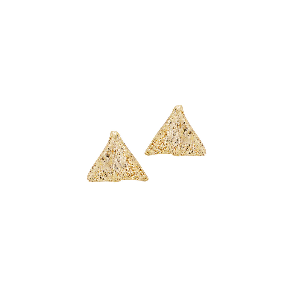 Tri stud earrings-gold-designed by alexandra koumba