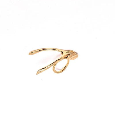 Wishbone Ring in gold Design by Alexandra Koumba