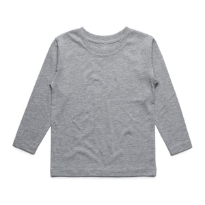 Boys Long Sleeve Cotton Tee (Grey)