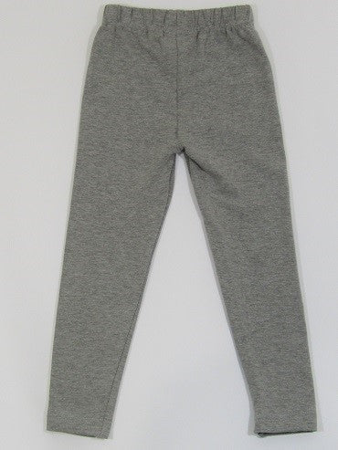 Jacob & Renner Girls Grey Cotton Stretch Leggings