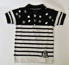 Play All Day Club Boys Black & White Multi Sport Polo