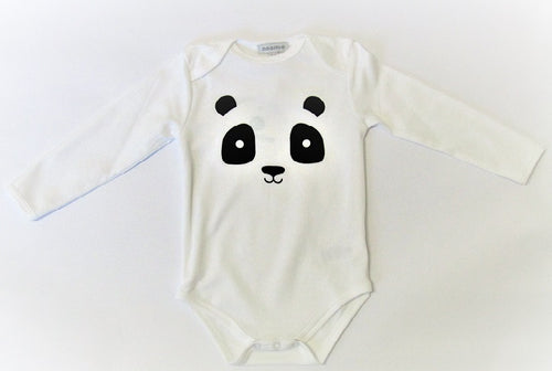 Combination Onesie and Grey Pant Panda Set