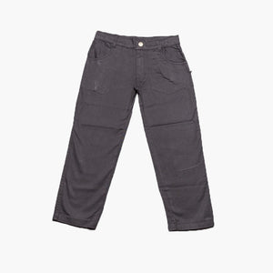 Milou Boys Black Cotton Woven Trousers