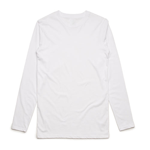 Girls Long Sleeve Cotton Tee (White)