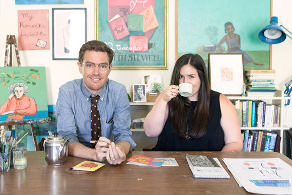Fresh-Tangerine-Interview-Apartment-On-Belmont-Artists-Michael-Doyle-Samantha-Wagner