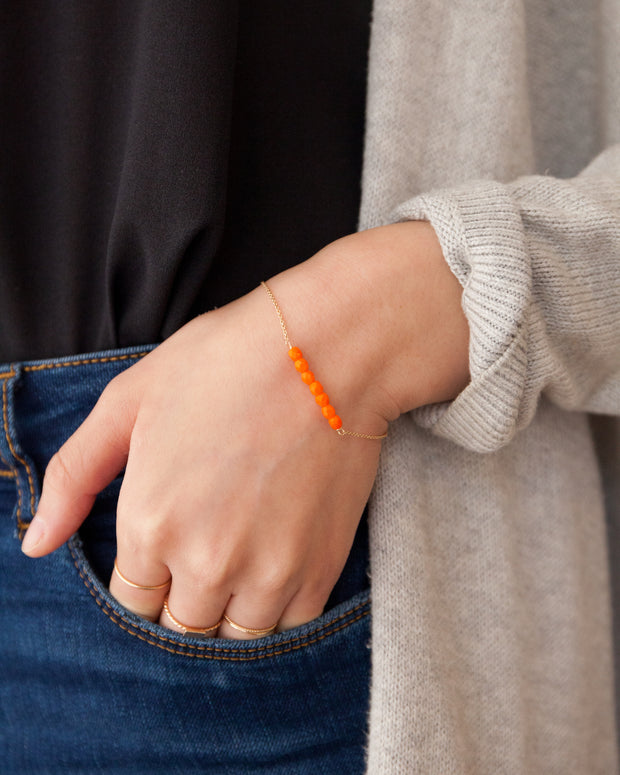 Friendship Bracelet - Orange