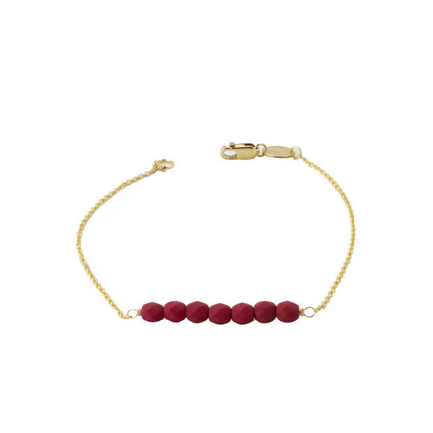 Friendship Bracelet - Raspberry