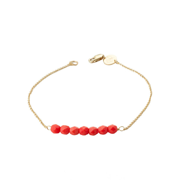 Friendship Bracelet - Coral