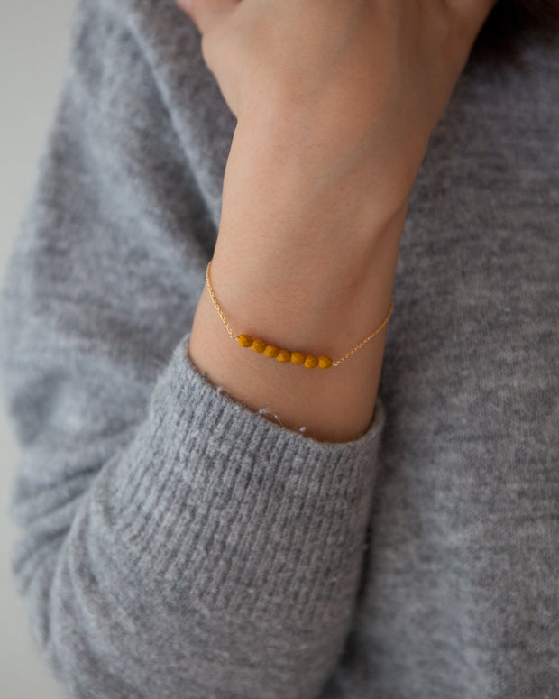 Friendship Bracelet - Mustard