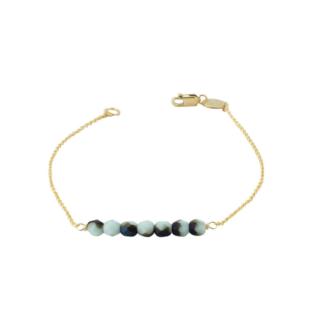 Friendship Bracelet - Marbled Mint