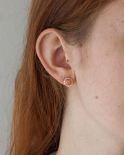 Aphrodite Earring in sterling silver modeled | Fresh Tangerine