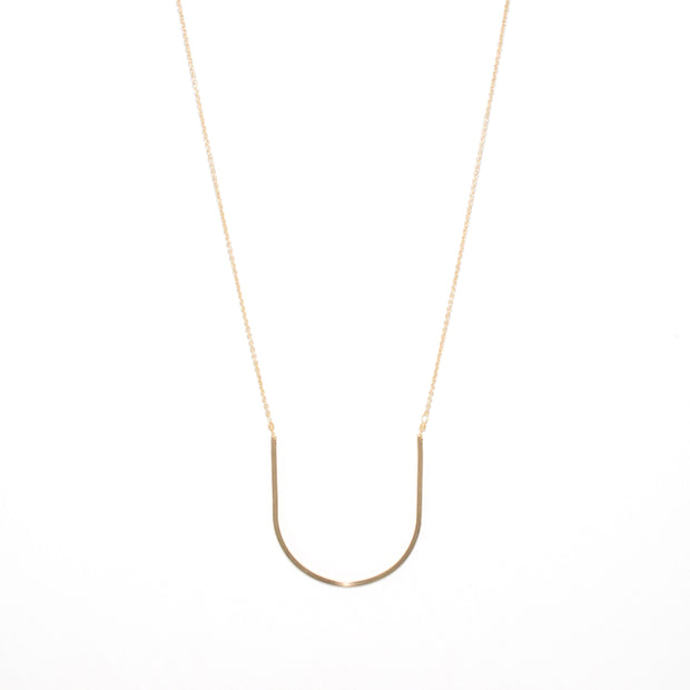 Arc Necklace in 14k gold fill | Fresh Tangerine