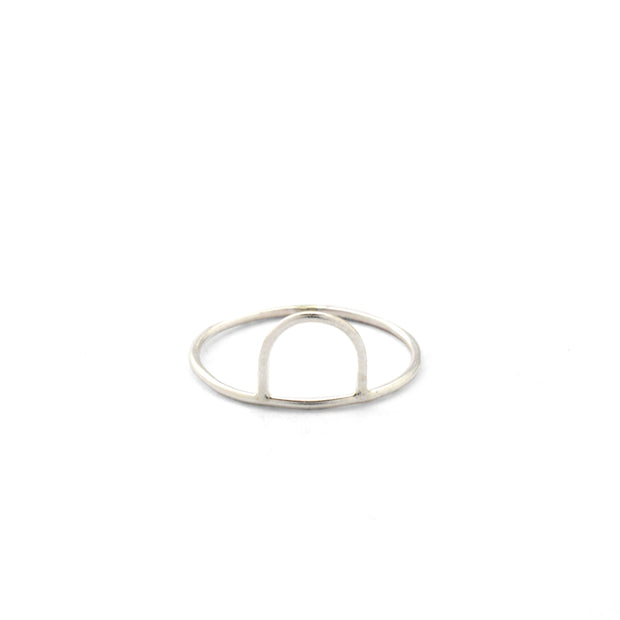 Arc Ring in sterling silver | Fresh Tangerine