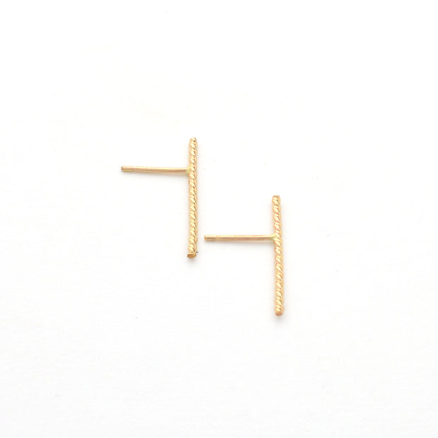 Baguette Earring in 14k gold fill | Fresh Tangerine
