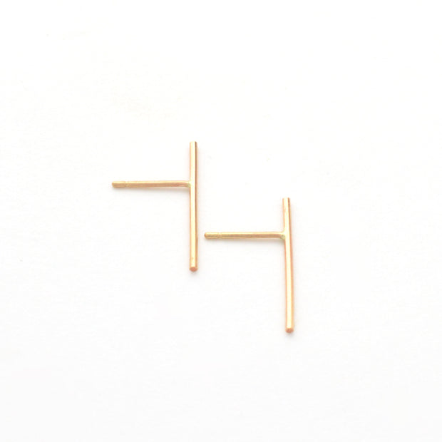 Baton Earring in 14k gold fill | Fresh Tangerine