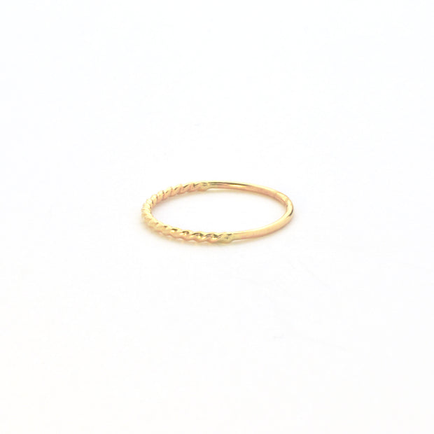 Beignet Stacking Ring in 14k gold fill | Fresh Tangerine
