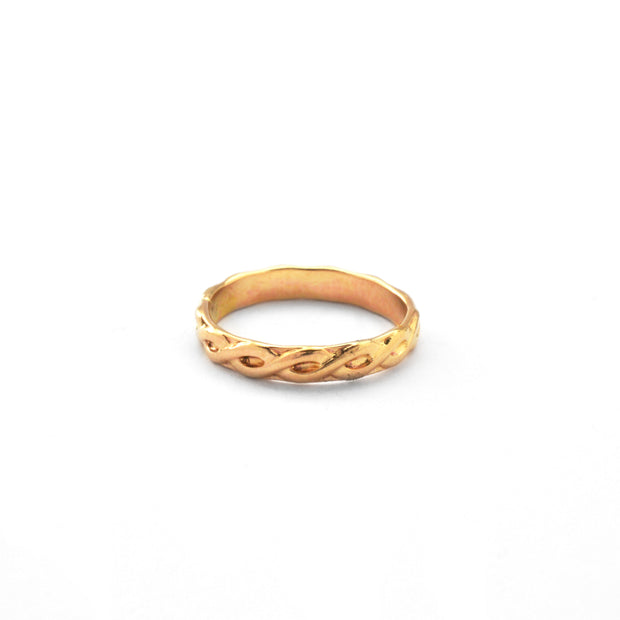Braided Stacking Ring in 14k gold fill | Fresh Tangerine