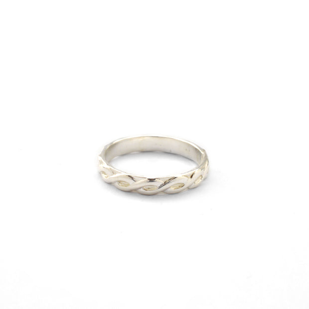 Braided Stacking Ring in sterling silver | Fresh Tangerine