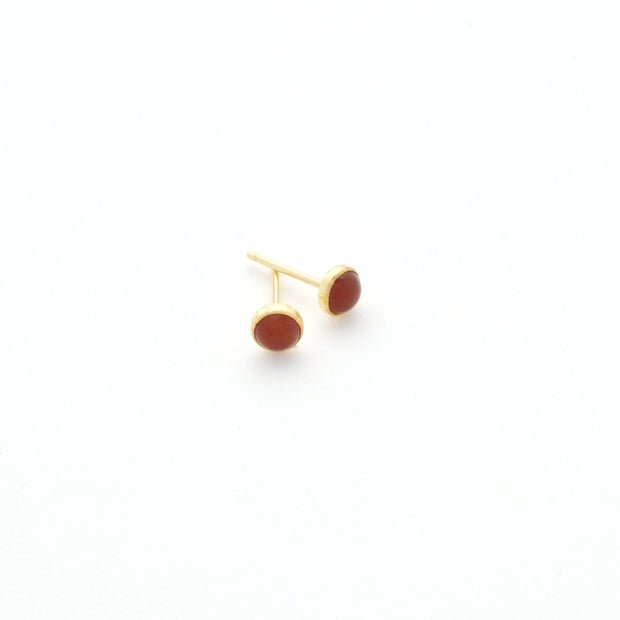 Carnelian Earring in 14k gold fill | Fresh Tangerine
