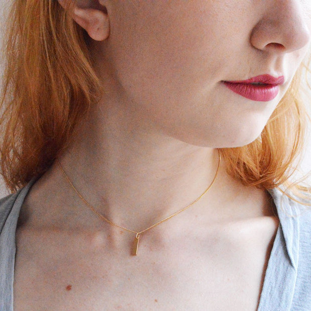 Chou Necklace in 14k gold fill modeled close up | Fresh Tangerine