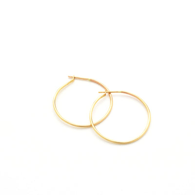 Classic Hoop in 14k gold fill  | Fresh Tangerine