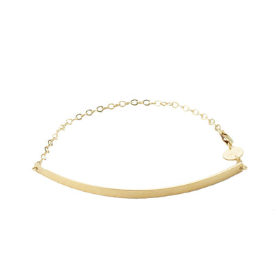 Curve Bracelet in 14k gold fill | Fresh Tangerine