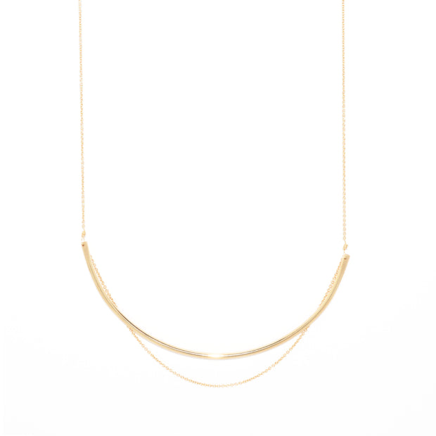 Curve Necklace in 14k gold fill | Fresh Tangerine