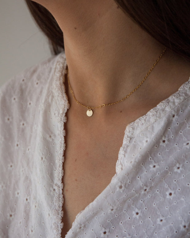 Etoile Necklace in 14k gold fill modeled | Fresh Tangerine