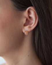 Fine Aphrodite Earring in 14k yellow gold modeled | Fresh Tangerine