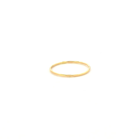 Fine Hammered Stacking Ring in 14k yellow gold | Fresh Tangerine