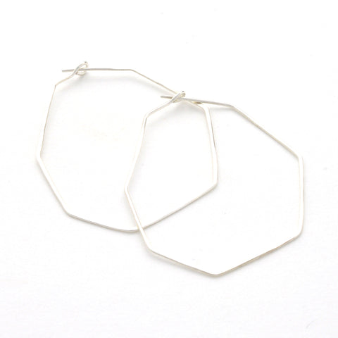 Geode Hoop in sterling silver | Fresh Tangerine