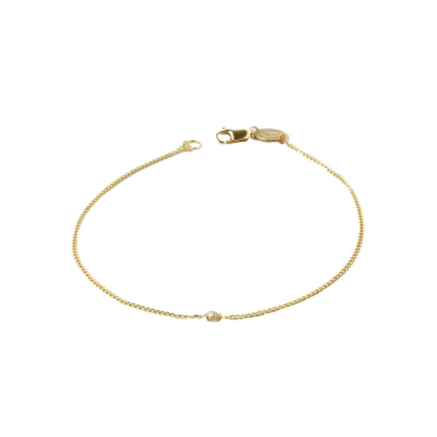 Glimmer Bracelet in 14k gold fill | Fresh Tangerine