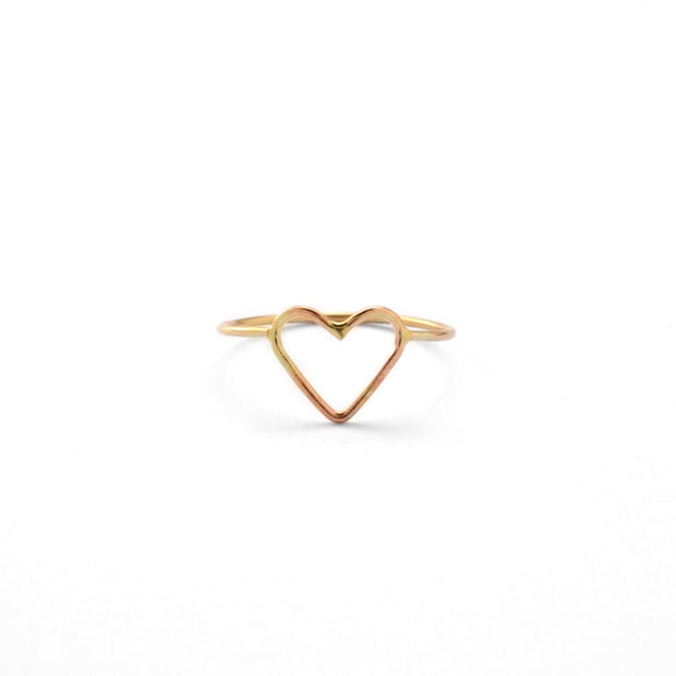 Heart Ring in 14k gold fill | Fresh Tangerine