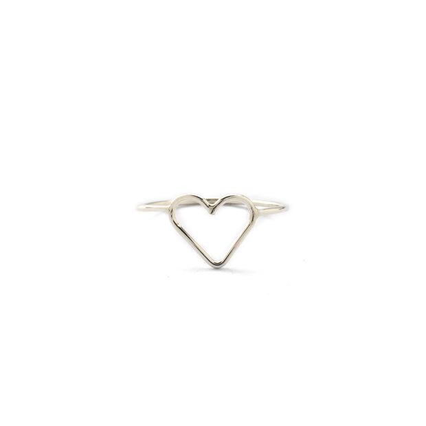 Heart Ring in sterling silver | Fresh Tangerine