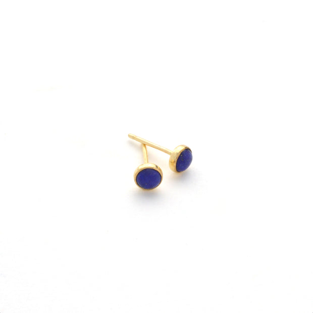 Lapis Earring in 14k gold fill | Fresh Tangerine