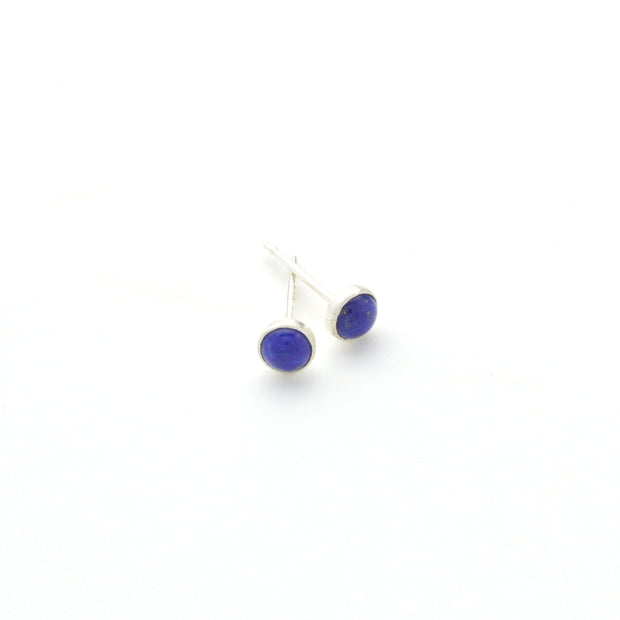 Lapis Earring in sterling silver | Fresh Tangerine