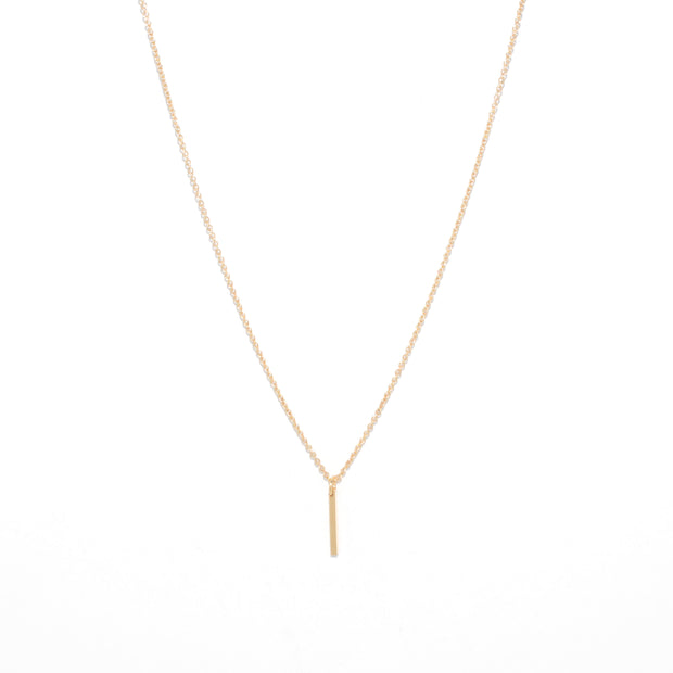 Linea Necklace in 14k gold fill | Fresh Tangerine