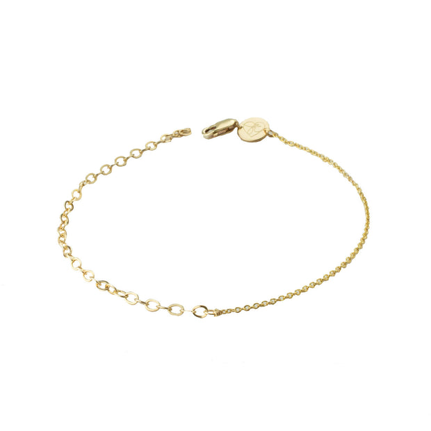 Link Bracelet in 14k gold fill | Fresh Tangerine