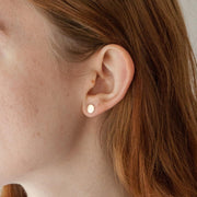 Luna Earringin 14k gold fill modeled | Fresh Tangerine