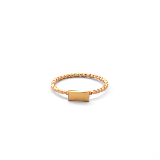 Marie Crown Ring in 14k gold fill | Fresh Tangerine