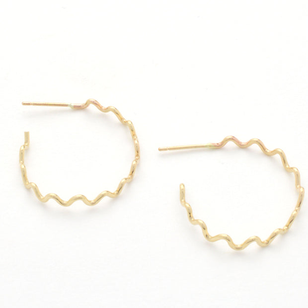 Meandering Hoop in 14k gold fill | Fresh Tangerine