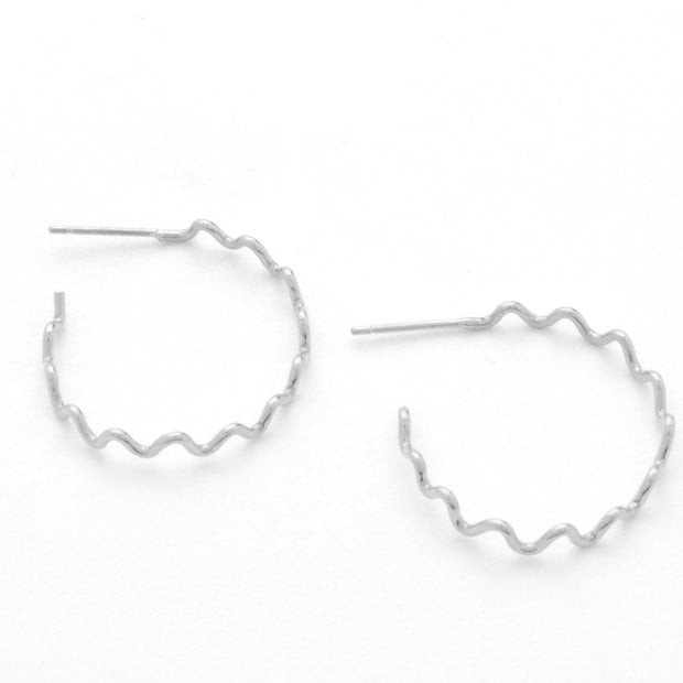 Meandering Hoop in sterling silver | Fresh Tangerine