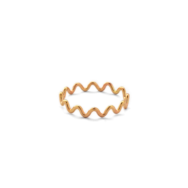 Meandering Ring in 14k gold fill | Fresh Tangerine