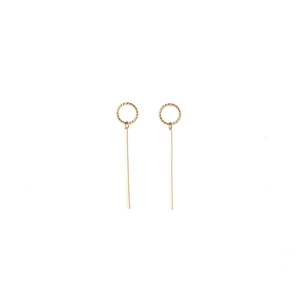 Meridian Earring in 14k gold fill | Fresh Tangerine