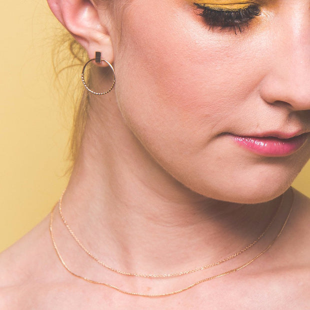 Nouveau Necklace Chain in 14k gold fill modeled | Fresh Tangerine