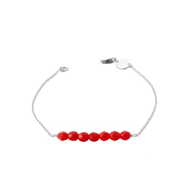 Friendship Bracelet - Red Orange