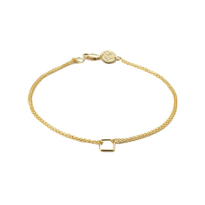 Quadro Bracelet in 14k gold fill | Fresh Tangerine